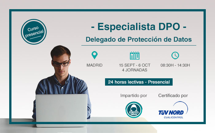 Nueva convocatoria del curso DPO – Experto en Protección de Datos
